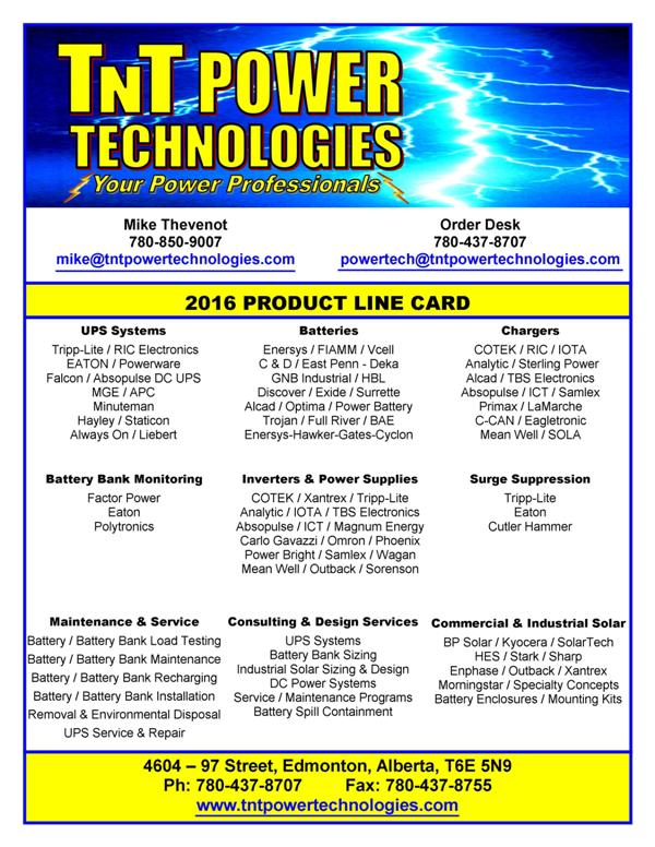 TNT Power Technologies Products
